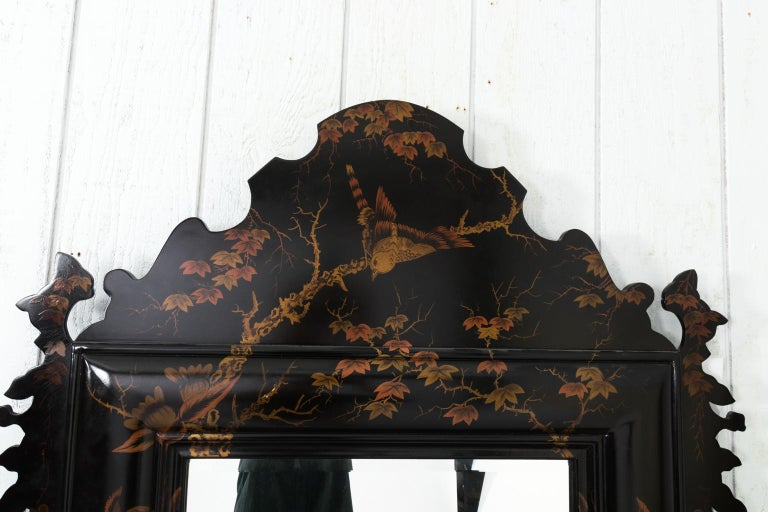 20th Century Japanned Mirror For Sale 9