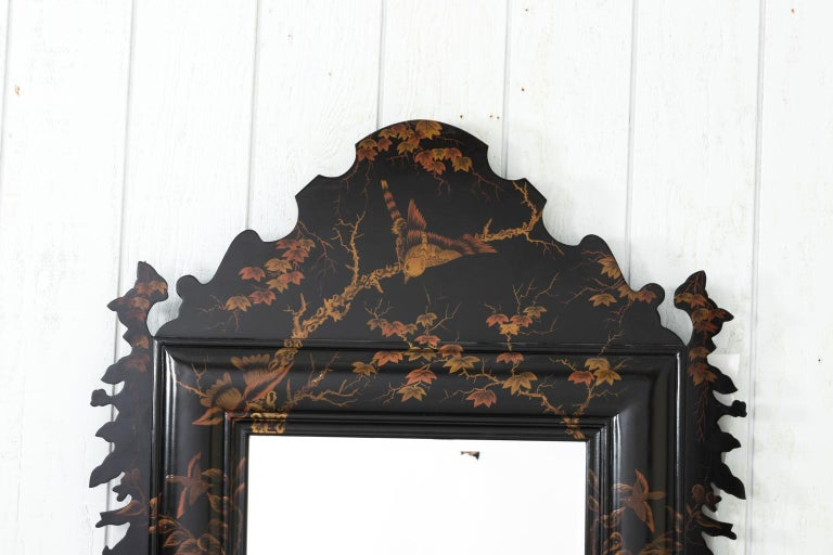 20th Century Japanned Mirror For Sale 5
