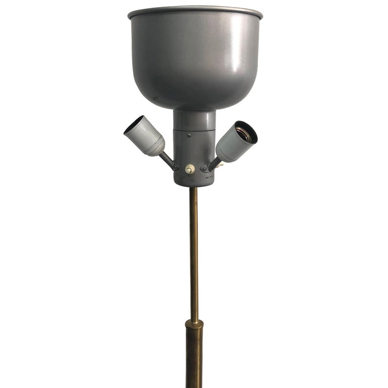 20th Century Model 2148, Swedish Svenskt Tenn Brass Floor Lamp by Josef Frank In Good Condition For Sale In West Palm Beach, FL