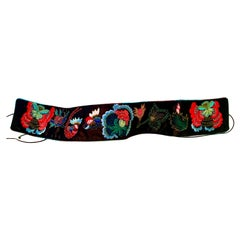20th Century Josi Natori Silk Beaded & Embroidered Cumber Sash Belt