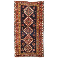 20th Century Kazak Wool Rug Geometric Design, circa 1900
