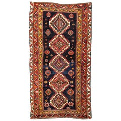 20th Century Kazak Wool Rug Geometric Design, circa 1900