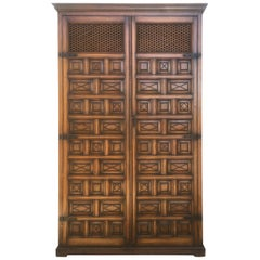 20th Century Kitchen Cabinet, Oak, Castillian Influence, Spain