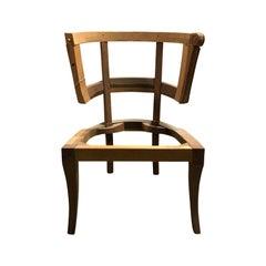 20th Century Klismos Barrel Back Chair Frame