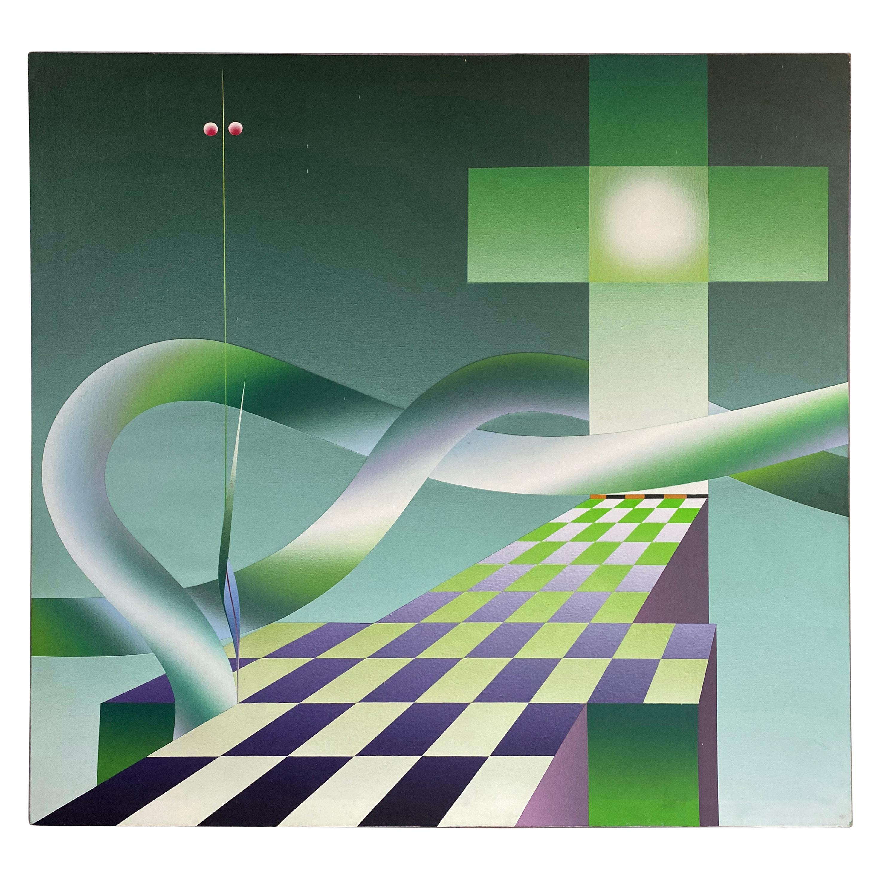 20th Century Stefan Knapp Oil on Canvas Painting