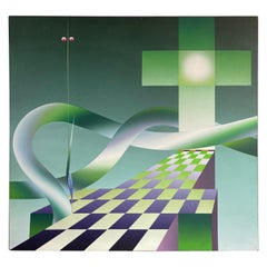 20th Century Stefan Knapp Oil on Canvas Painting