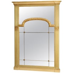 20th Century Lacquered and Giltwood Louis XVI Italian Mirror, 1970