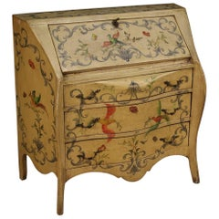 20th Century Lacquered and Hand-Painted Wood Italian Bureau, 1960
