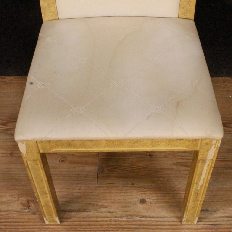 20th Century Lacquered and Painted Wood Italian 8 Chairs, 1970 For Sale 7