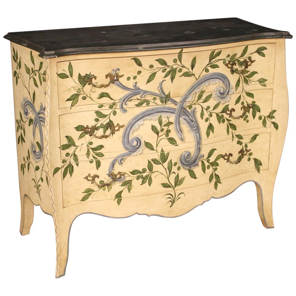20th Century Lacquered and Painted Wood Italian Chest of Drawers Dresser, 1960