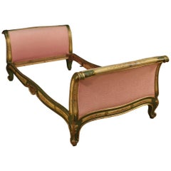 20th Century Lacquered and Painted Wood Venetian Bed, 1950
