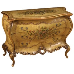 20th Century Lacquered and Painted Wood Venetian Commode, 1950