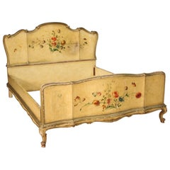 20th Century Lacquered and Painted Wood Venetian Double Bed, 1950