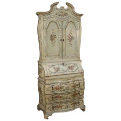 20th Century Lacquered and Painted Wood Venetian Trumeau, 1950