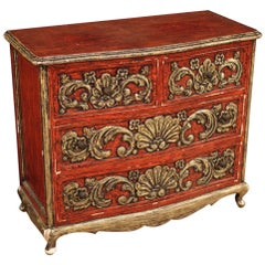 20th Century Lacquered and Silvered Wood Spanish Dresser, 1960