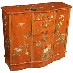 20th Century Lacquered Chinoiserie Wood French Sideboard, 1970