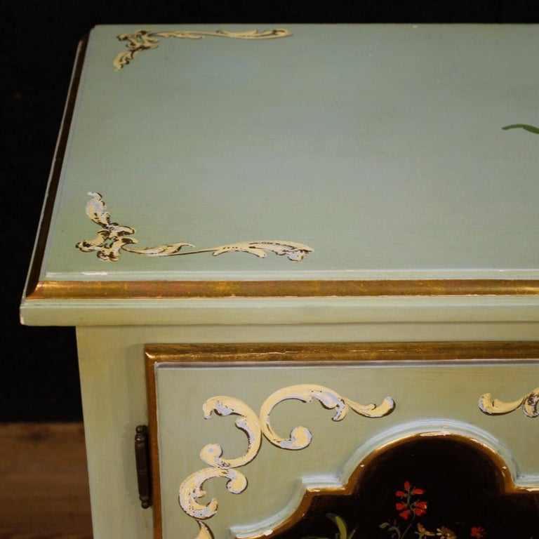 20th Century Lacquered, Gilt and Painted Wood Italian Sideboard, 1960 For Sale 7