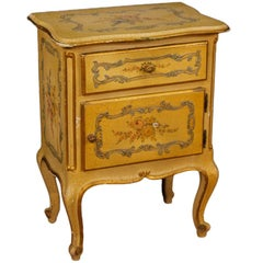 20th Century Lacquered, Painted and Gilded Wood Venetian Nightstand, 1960