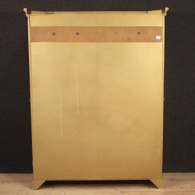 20th Century Lacquered Painted and Giltwood Italian Wardrobe, 1960 For Sale 3