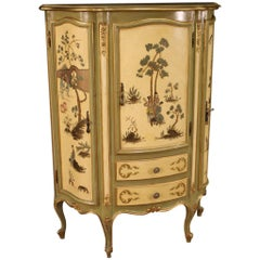 20th Century Lacquered Painted and Giltwood Venetian Cupboard, 1960