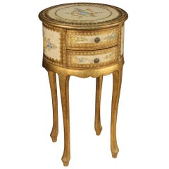 20th Century Lacquered Painted and Giltwood Italian Side Table, 1960