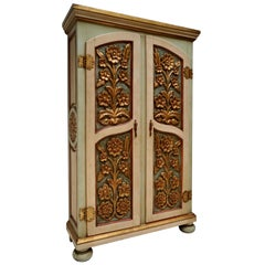 20th Century Lacquered Painted and Giltwood Italian Wardrobe, 1960