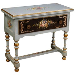 20th Century Lacquered, Painted, Giltwood Italian Side Table, 1960