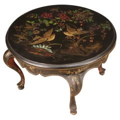 20th Century Lacquered Wood French Round Coffee Table, 1950