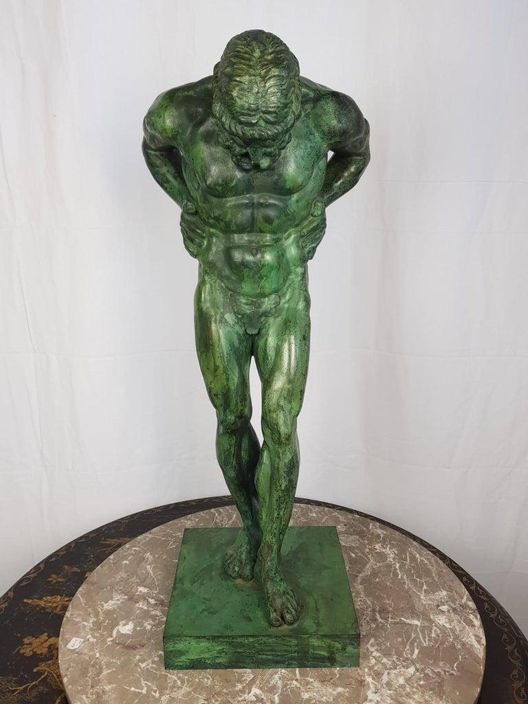 Danish 20th Century Large Bronze Statue of Atlas For Sale