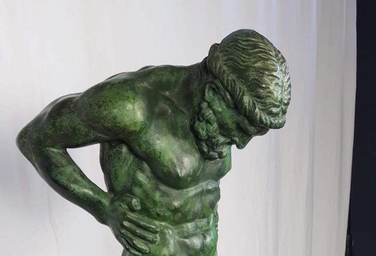 Cast 20th Century Large Bronze Statue of Atlas For Sale
