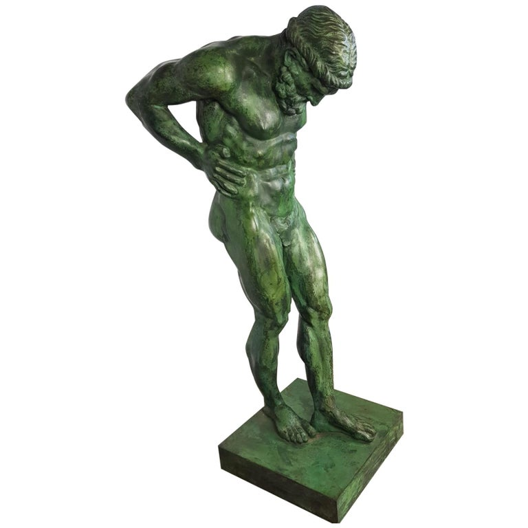 20th Century Large Bronze Statue of Atlas For Sale