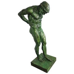 20th Century Large Bronze Statue of Atlas