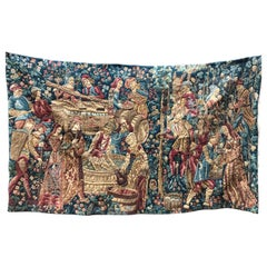 20th Century Large French Handmade Tapestry by Frecnoy-le-Grand with Certificate