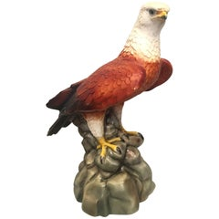 20th Century Large Italian Glazed Terra Cotta Eagle