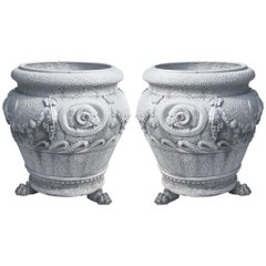 20th Century Large Italian Neoclassical Style Planters by Italgarden, a Pair