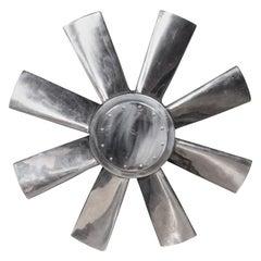 20th Century Large Polished Intake Fan Blade, c.1950