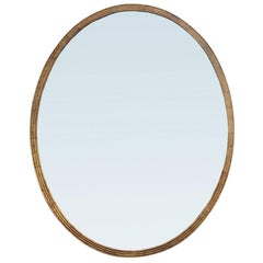 20th Century Large-Scale Neoclassical Oval Mirror, Giltwood Frame
