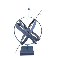 20th Century Large Scale Steel Armillary