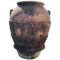 20th Century Large Terracotta Jar Of Impruneta