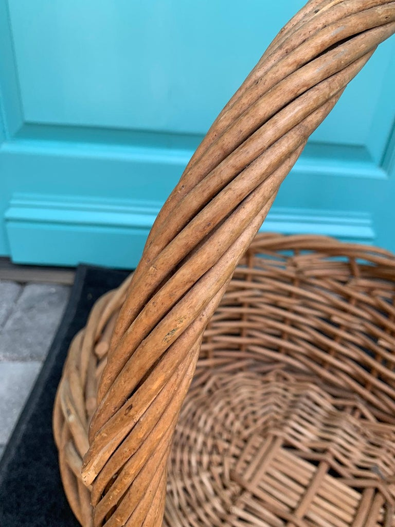 20th Century Large Woven Basket For Sale 6