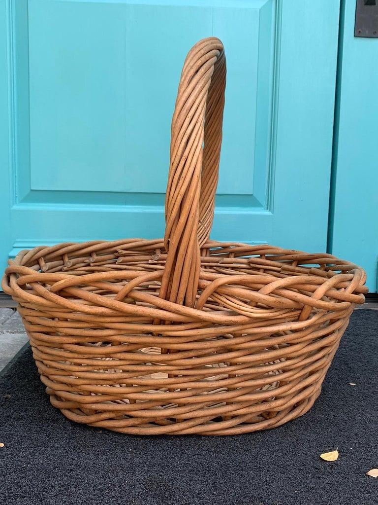 20th century large woven basket.