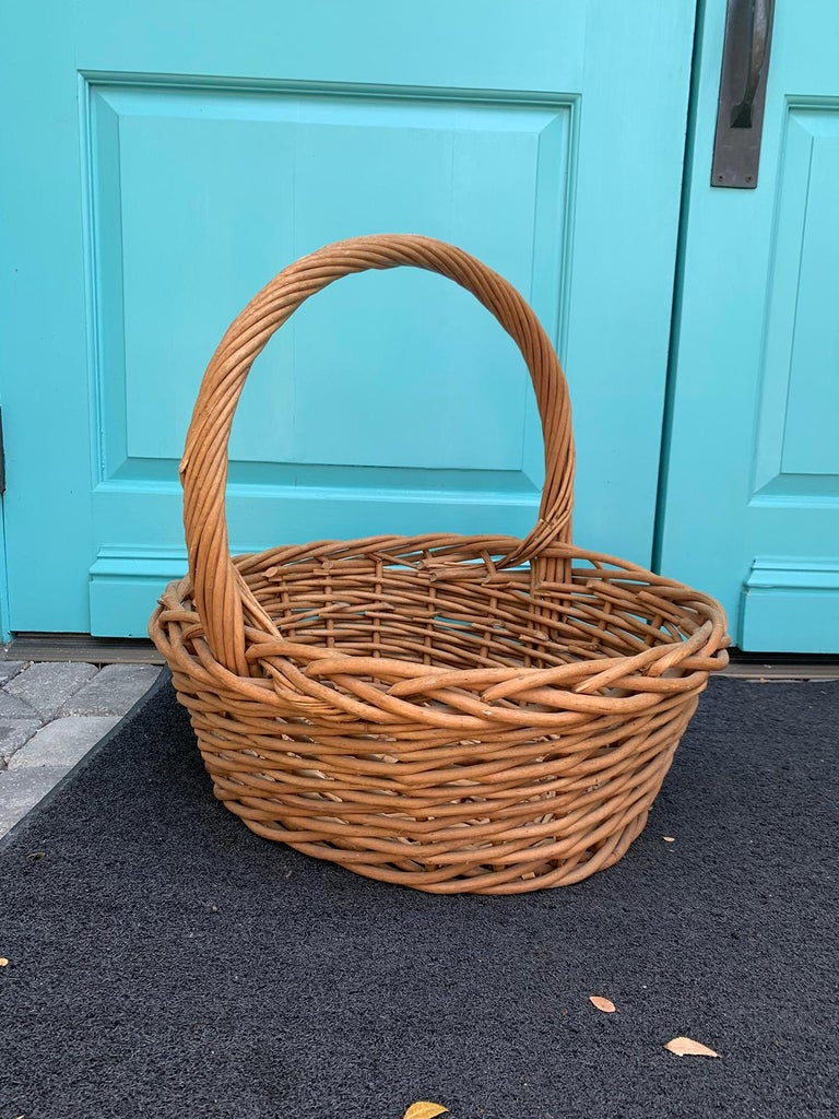 20th Century Large Woven Basket For Sale 1