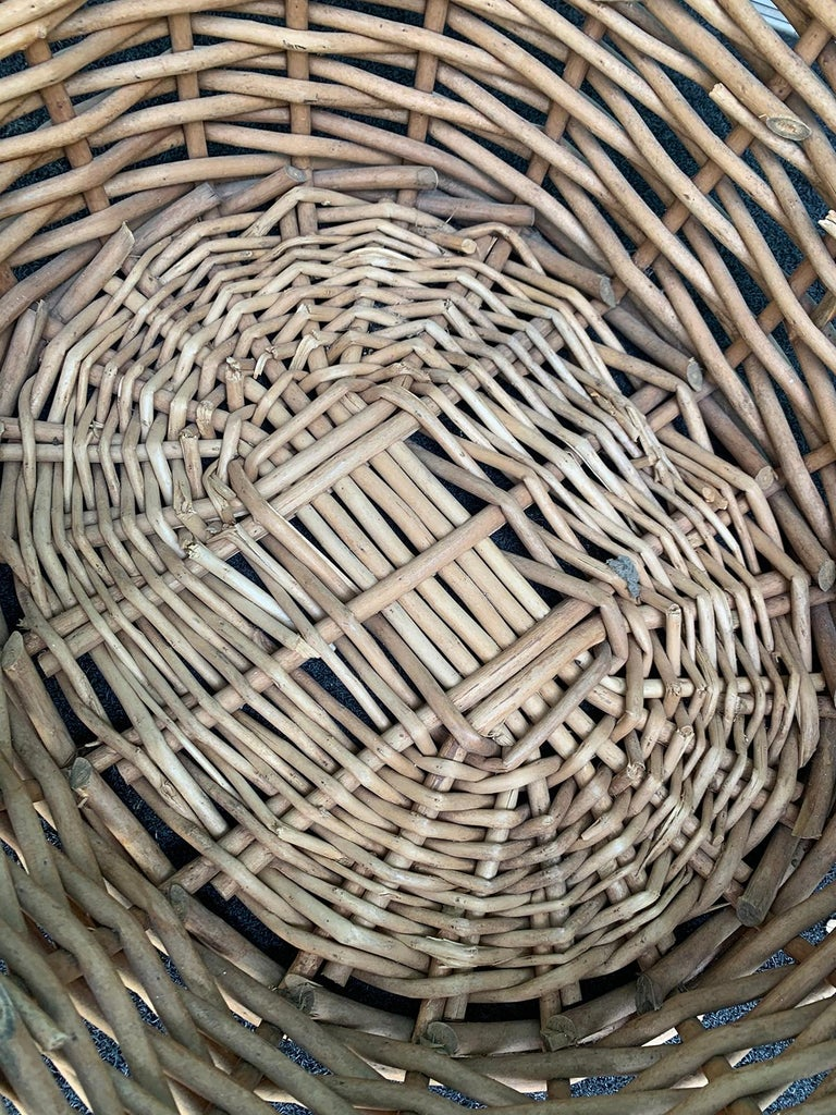 20th Century Large Woven Basket For Sale 2