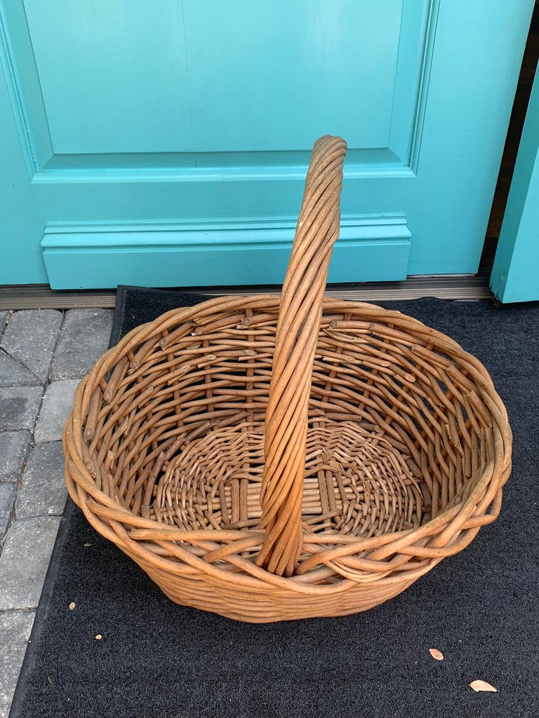 20th Century Large Woven Basket For Sale 5