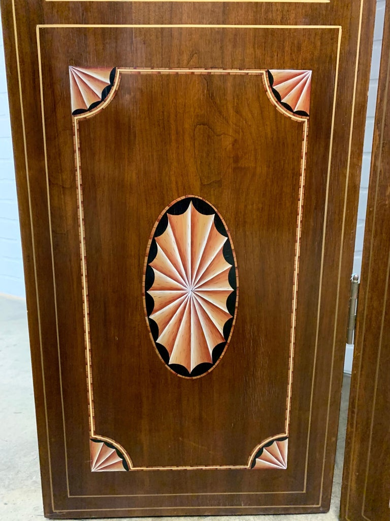 20th Century Leather Book Room Divider For Sale 8