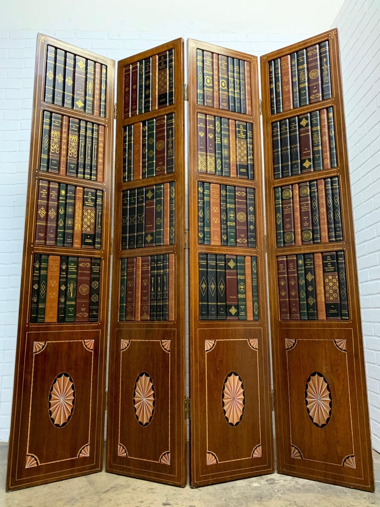 20th Century Leather Book Room Divider For Sale 9