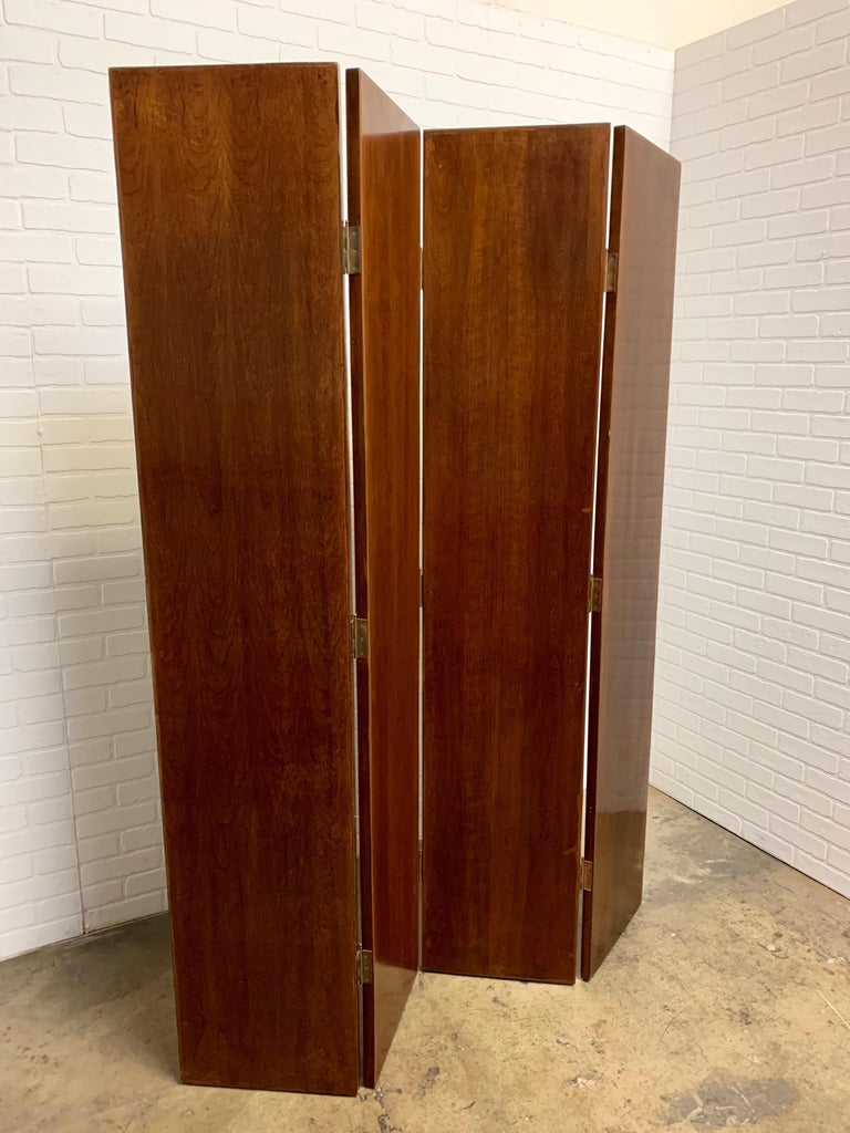 20th Century Leather Book Room Divider For Sale 10