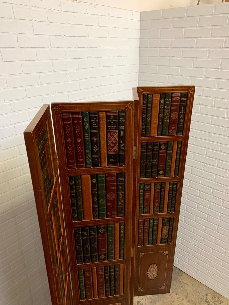 20th Century Leather Book Room Divider For Sale 5