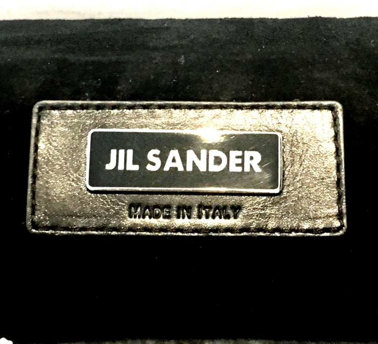 20th Century Leather & Glass Bead Sculptural Clutch Handbag By, Jil Sander For Sale 7