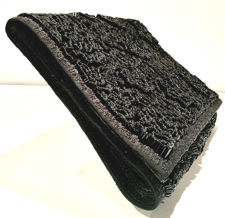 Women's or Men's 20th Century Leather & Glass Bead Sculptural Clutch Handbag By, Jil Sander For Sale